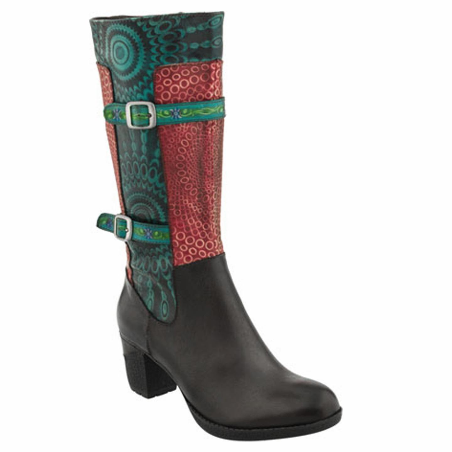 L'Artiste Carpeverde By Spring Step Black Leather Boots 35 EU   5 US Women by Spring Step
