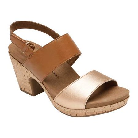 Women's Rockport Vivianne Two Band Heeled Sandal