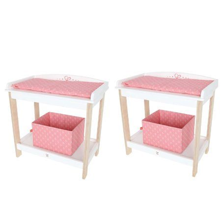 - Hape Baby Diaper Changing Table Kids Toy Doll Crib Nursery Furniture (2 Pack)