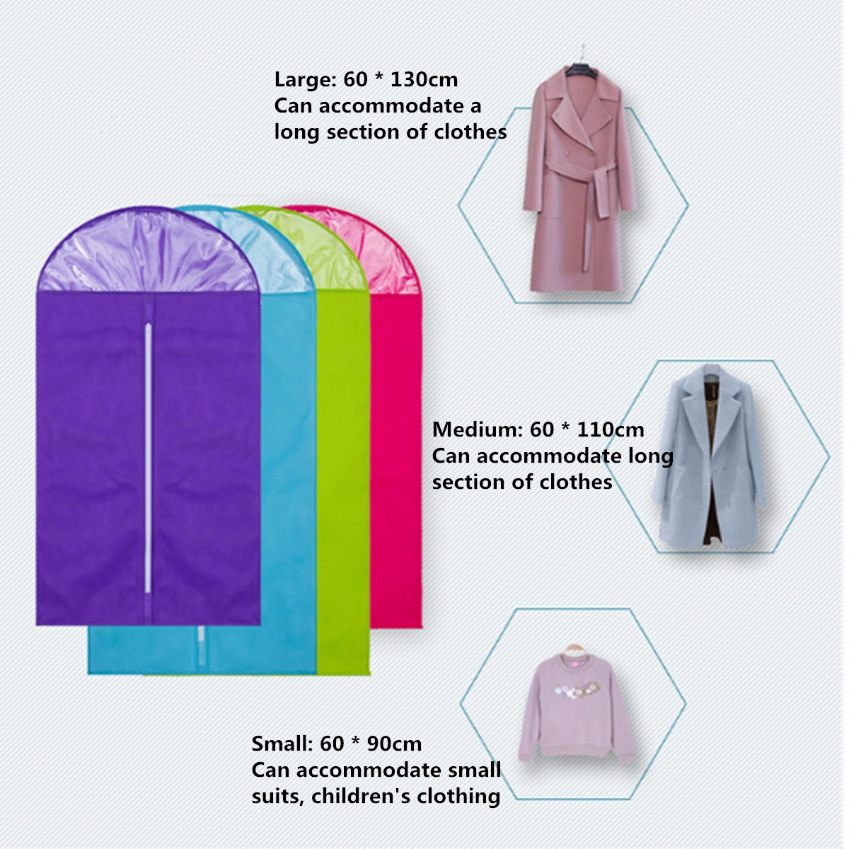 mohoo garment bag covers full zipper suit bag with clear window pack for suits pants and