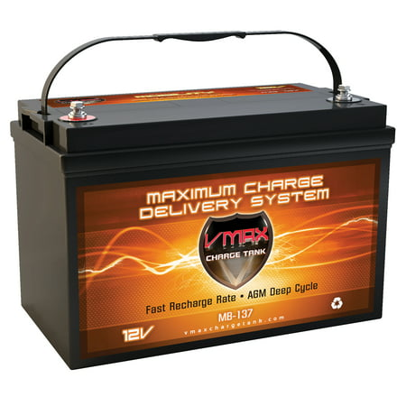 Vmax Mb137 120 Battery Replaces Advanced Auto Parts Battery Vmax 12V 120Ah Group 31 Deep Cycle Agm