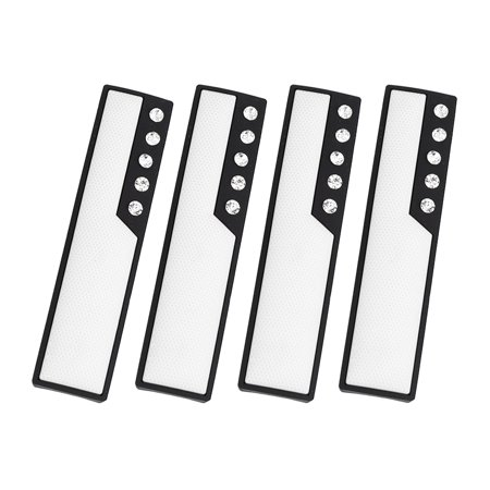 4pcs White Car Door Edge Guards Trim Molding Scratch Protector with Faux Diamond - image 4 of 4