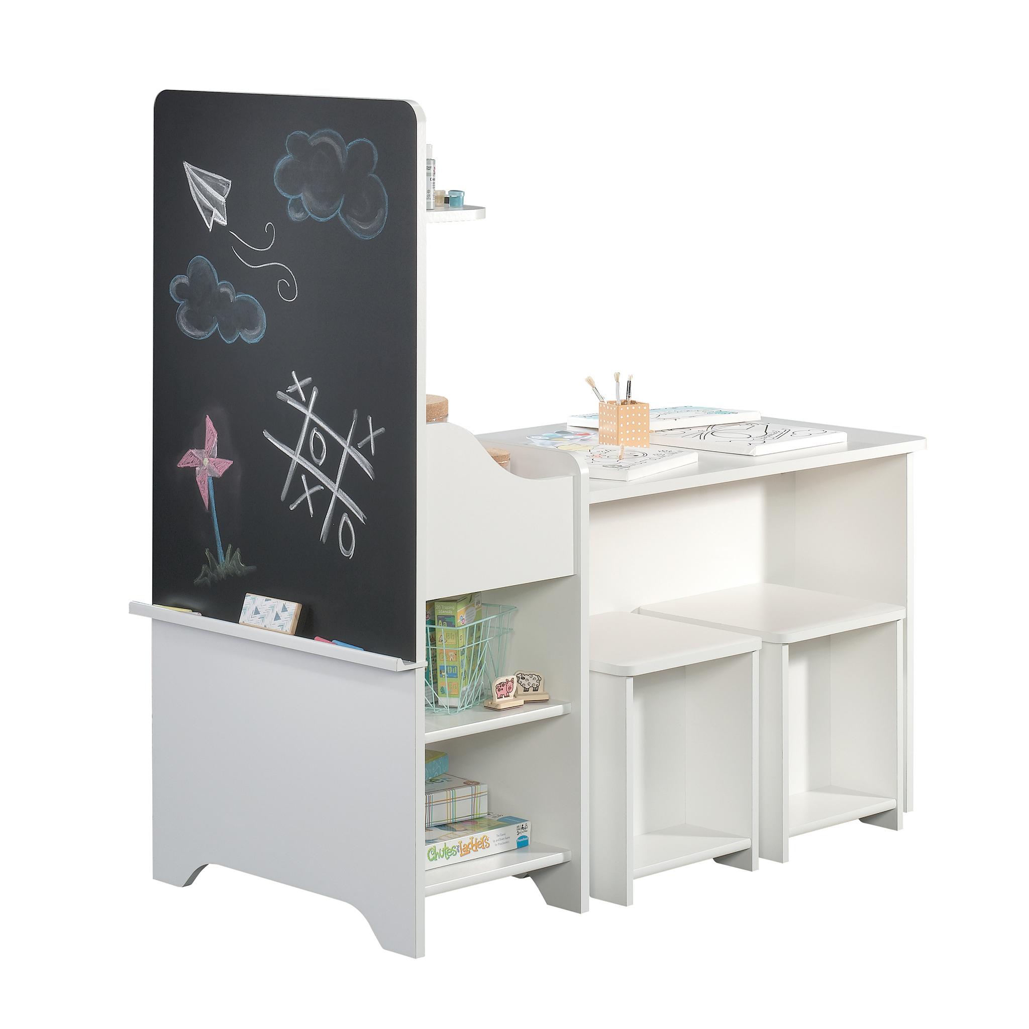 Better Homes & Gardens Cartwheel Activity Center with Chalkboard, White Finish