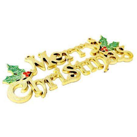 Mosunx 20cm Christmas Tree Decoration Shiny Merry Letter Card for Xmas Hanging Ornament](Letter Ornaments)
