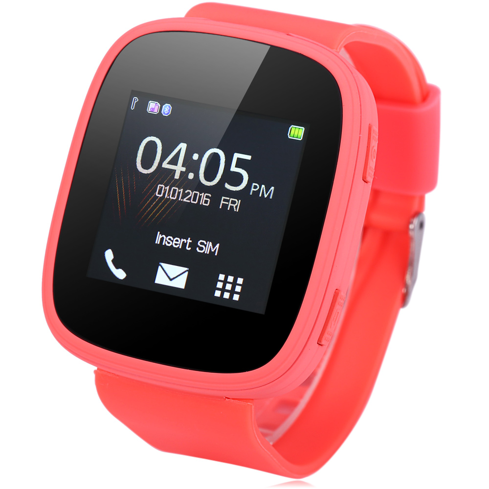 Smart Watch Phone, Unlocked Universal GSM 1.54inch Touch Screen Bluetooth 2.0 Wrist Watches Phone with Music Player Sound Recorder Heart Rate Measurement Function (Full Black)