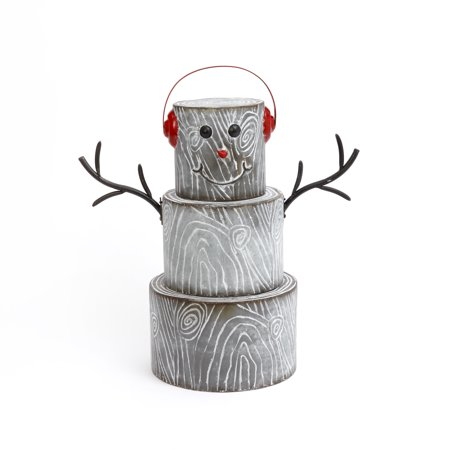 Gerson 24-Inch-High Metal Snowman Figurine, Some assembly required