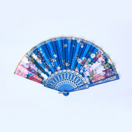 Chinese Folding Silk Flower Hand Fan Wedding Dance Party Gift