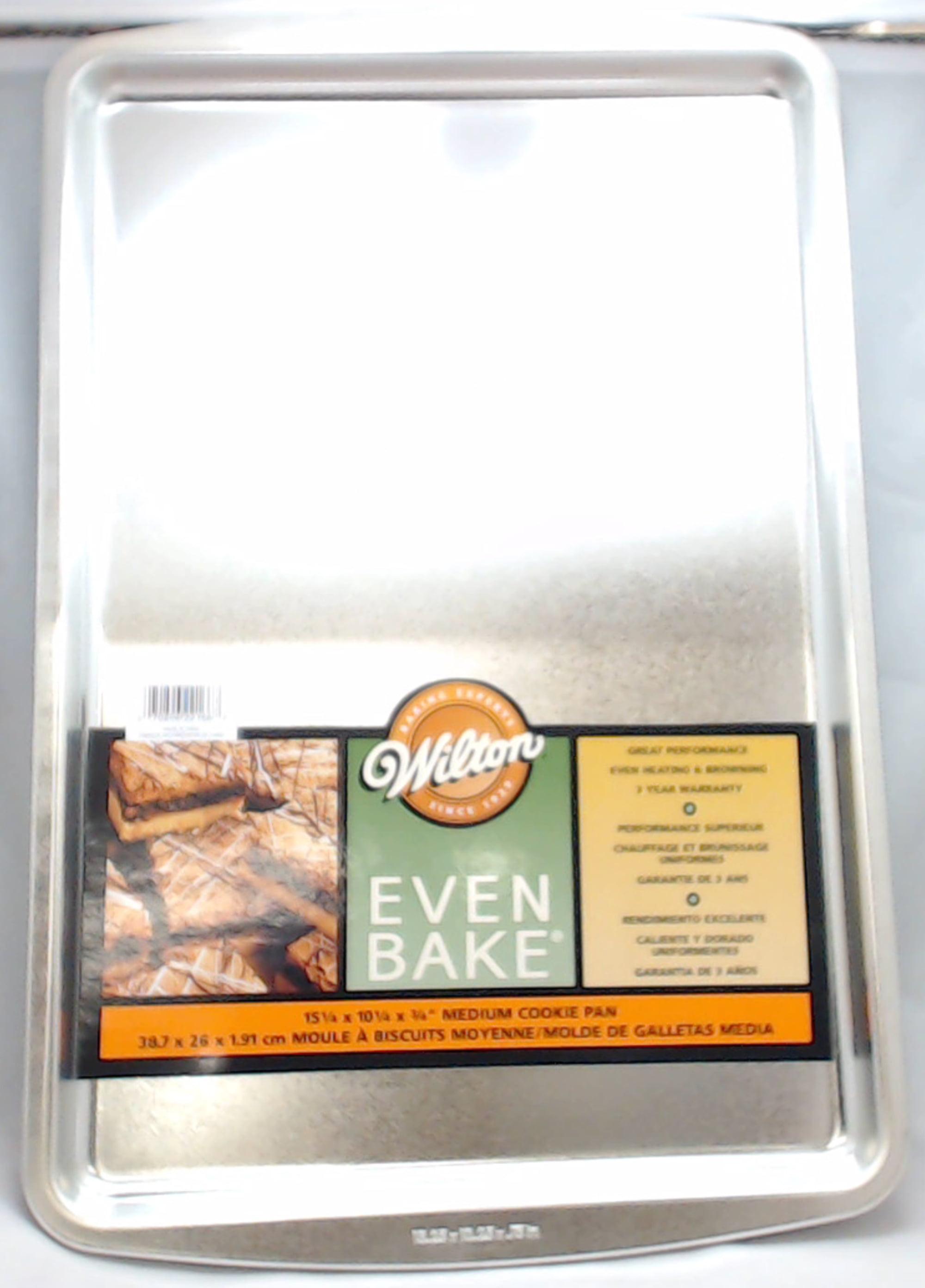 2105-2166, Wilton Even Bake Medium Cookie Pan, 15-1 4 X 10-1 4 X 3 4 by
