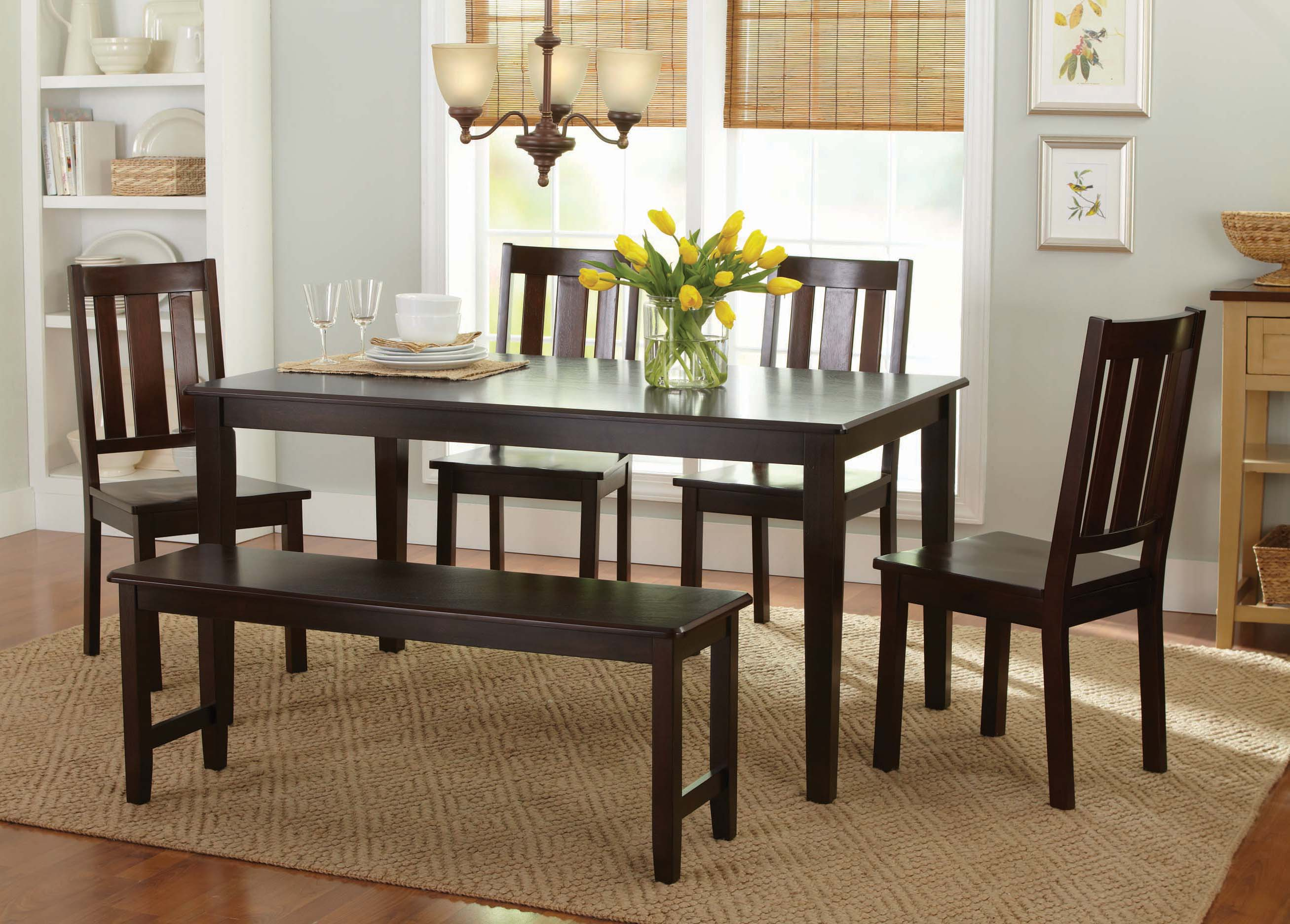 Better Homes And Gardens Bankston Dining Bench, Mocha   Walmart.com