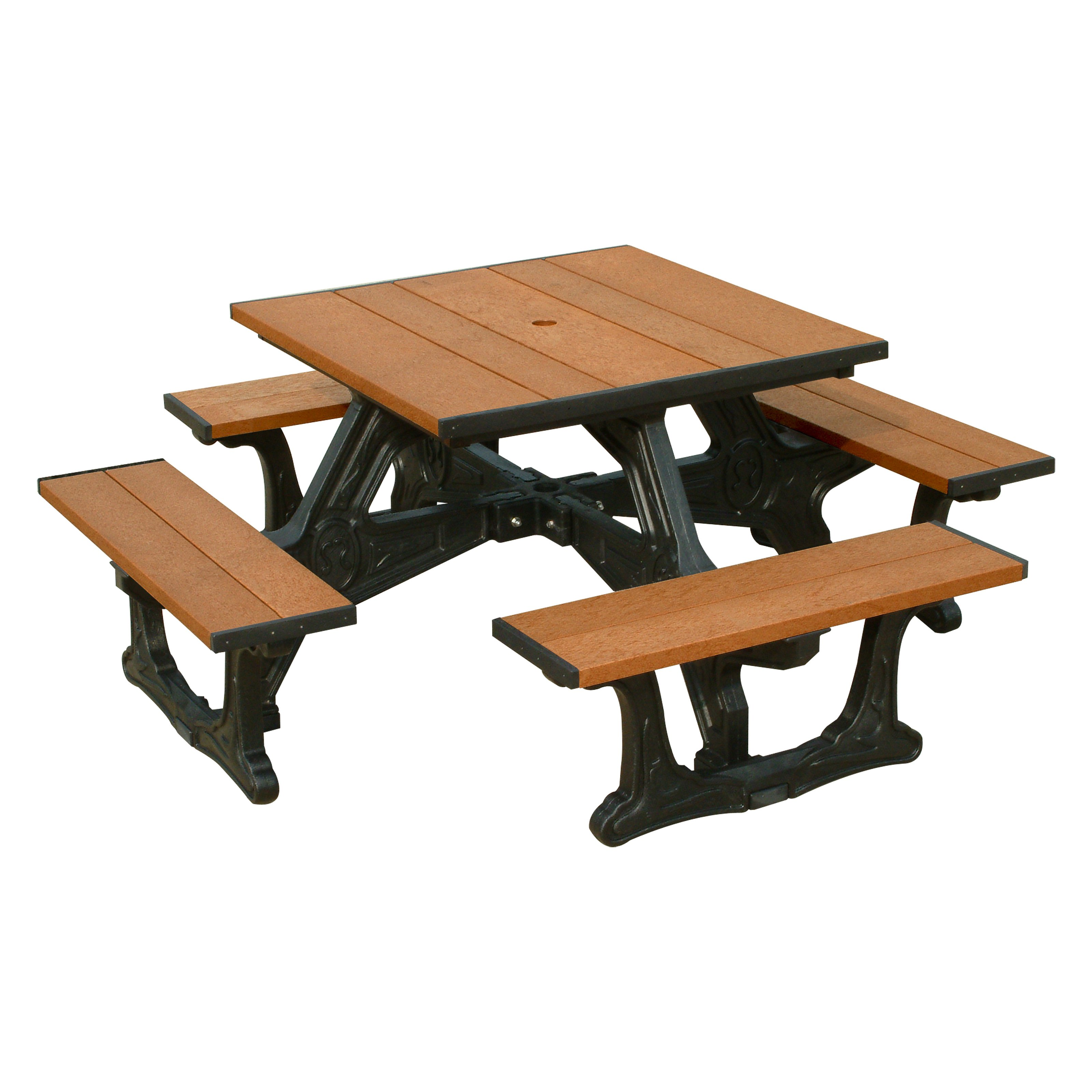 Polly Products Town Square Recycled Plastic Picnic Table