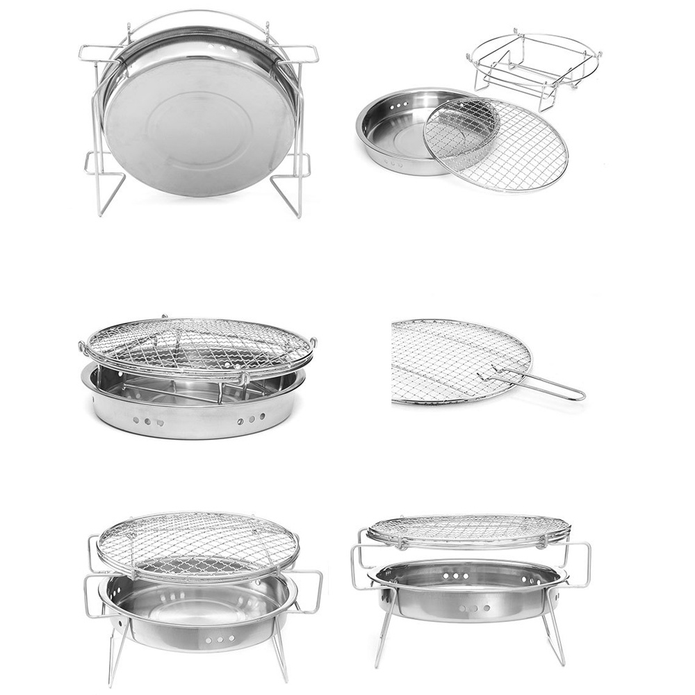 Portable Stainless Steel Folding Mini Pocket Park Grill For Outdoor Camping SI