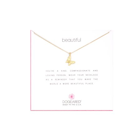 Dogeared Best Mom Necklace - Dogeared Beautiful Enchanted Butterfly Gold Necklace