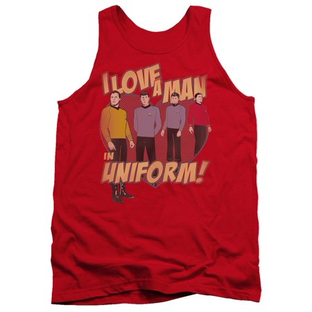 dcf4ffc2e Star Trek - Star Trek Next Generation Kirk Spock McCoy Scotty Man In Uniform  Adult TankTop - Walmart.com