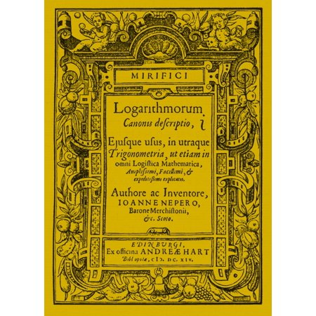 Napiers treatise on logarithms Poster Print by Science Source