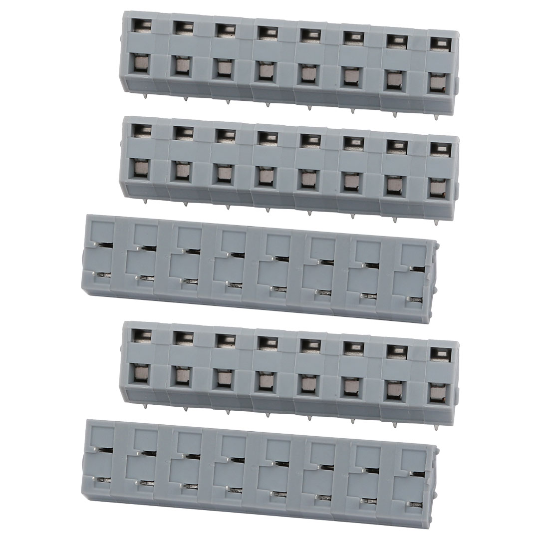 Unique Bargains 5pcs KKF243A 300V 15A 7.5mm Pitch 8P Spring Terminal Block for PCB Mounting - image 1 of 2