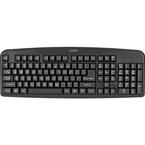Micro Innovations 4250400 Easy-View Keyboard - WiredUSB - 110 Key - PC