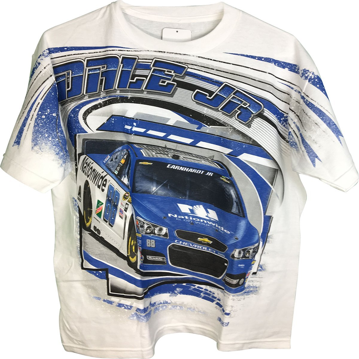 Dale Earnhardt Jr #88 Nationwide Total Print All Over Design Adult Men's T-Shirt (2X) by Checkered Flag