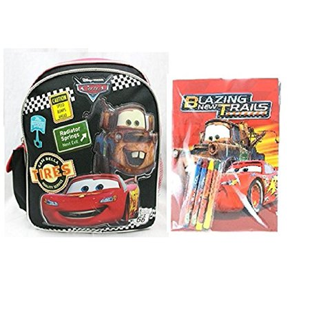 Disney Cars 10 Inches Mini Toddler Backpack Plus Coloring Book - Coloring Backpack