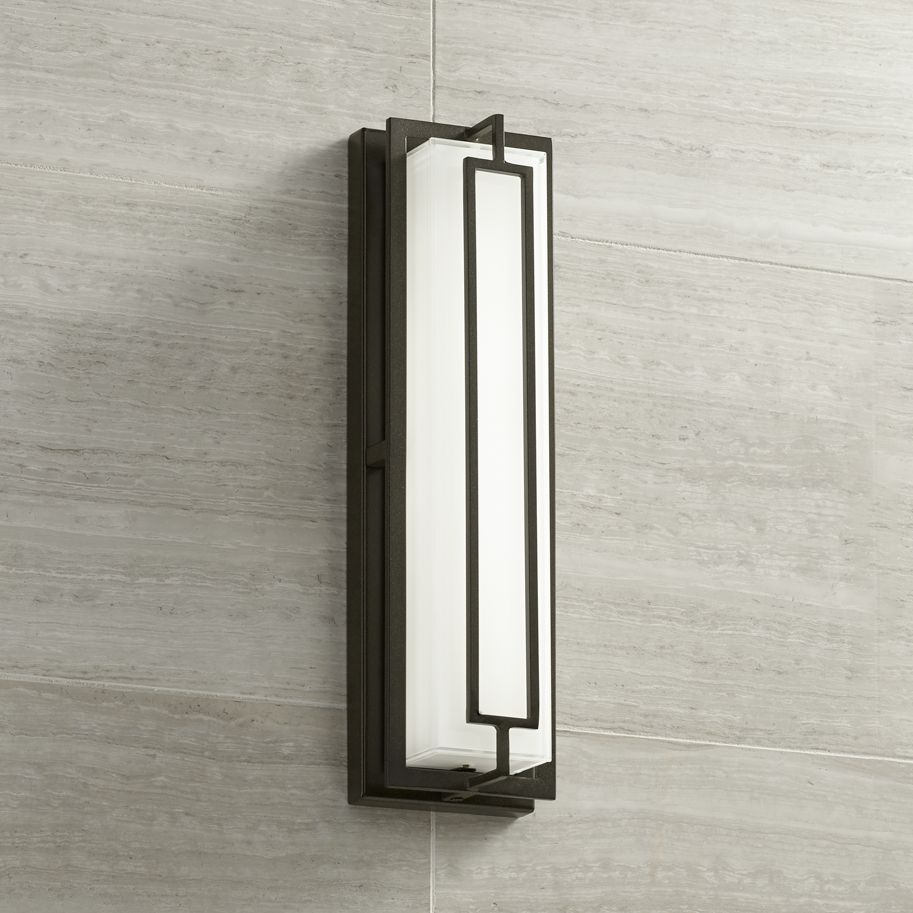 Possini Euro Design Modern Outdoor Wall Light Fixture LED ...