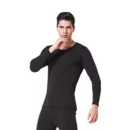 Flag Thermal Shirt - Thermal Underwear Set Winter Thicken Long Johns Men Warm 2pcs Tops Bottom Cotton