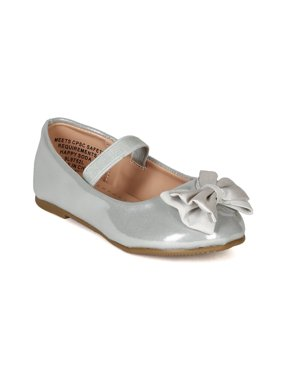 f0f2af3e953 Product Image Happy Soda BF48 Girl Leatherette Bow Elastic Mary Jane  Ballerina Flat (Toddler)