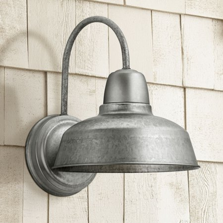 "John Timberland Urban Barn 13"" High Galvanized Steel Outdoor Wall Light"
