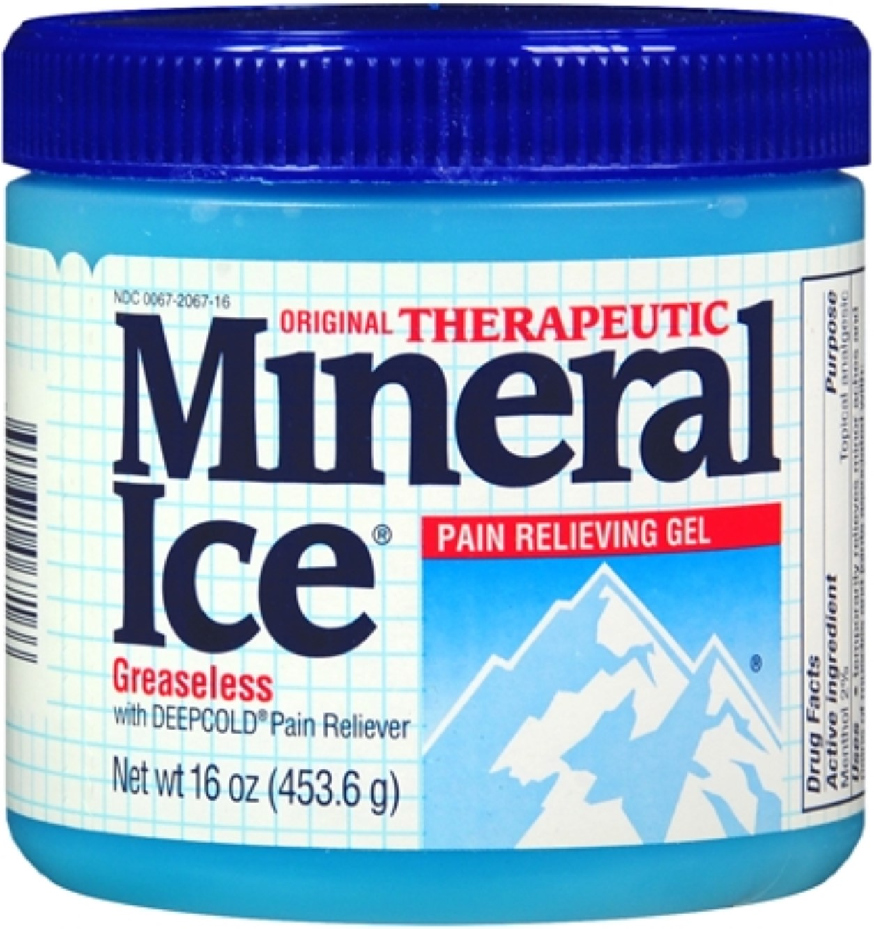 Mineral Ice Pain Relieving Gel 16 oz (Pack of 6)
