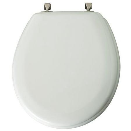 Mayfair Round White Wood Toilet Seat Walmartcom - Black wooden toilet seat