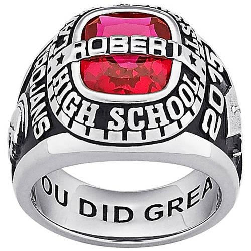 Personalized Guy's Silver Plated Celebrium Traditional Class Ring