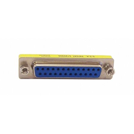 Your Cable Store DB25 25 Pin Serial Port Female / Female Adapter Gender Changer (Rs 232 Gender Changer)