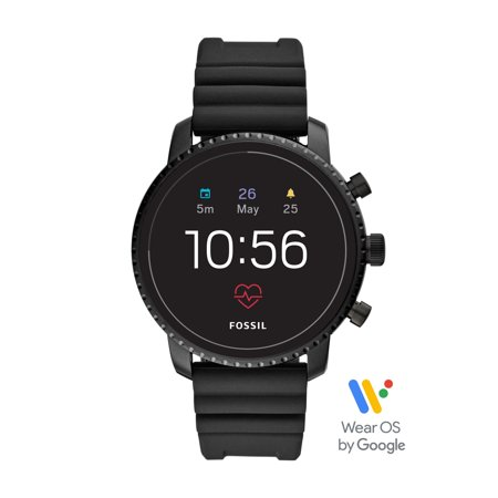 Fossil Gen 4 Explorist HR Men's Smartwatch - Black Silicone - Powered with Wear OS by Google™