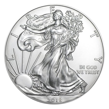 Germany Silver Coin - 2018 American Silver Eagle 1 oz Silver Coin