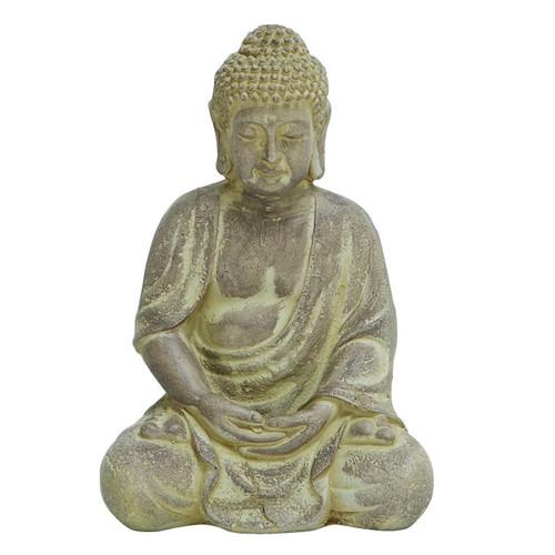 Cole & Grey Fiber Stone Buddha Figurine