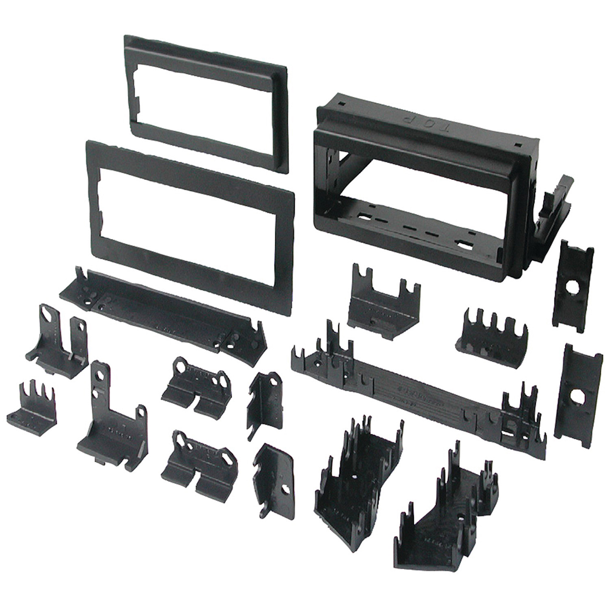 """Best Kits BKGM4 In-Dash Installation Kit (GM Universal 1982-2003 with Factory Brackets and Flat, 0.5"""" and 1"""" Trim Plates Single-DIN)"""