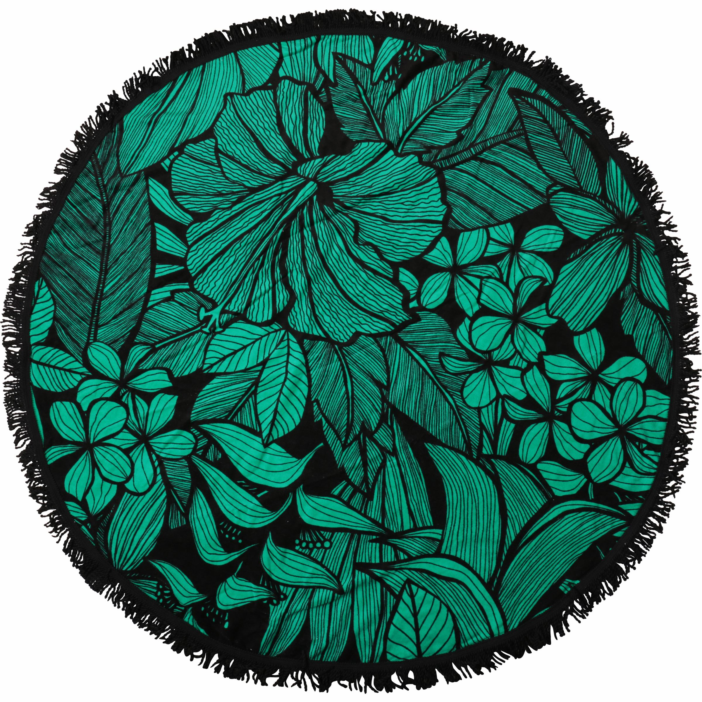 Better Homes and Gardens Flower Printed Round Beach Towel