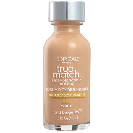 L'Oreal True Match Super Blendable Makeup, Sand Beige [W5], 1 oz
