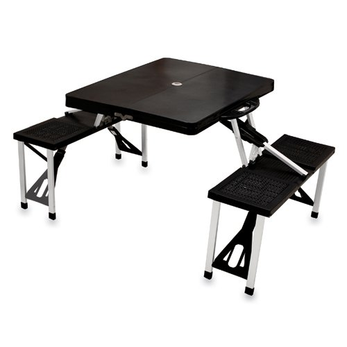 Picnic Time Black Folding Picnic Table
