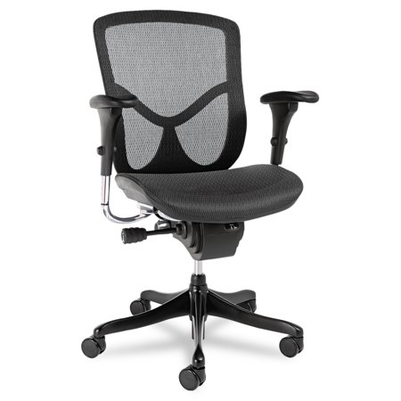 Multifunction Office Chair - Alera EQ Series Ergonomic Multifunction Mid-Back Mesh Office Chair, Black Base