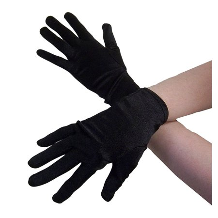 Adult 9 Inch Satin Finish Gloves Black Formal Magician Stretch Costume Accessory for $<!---->