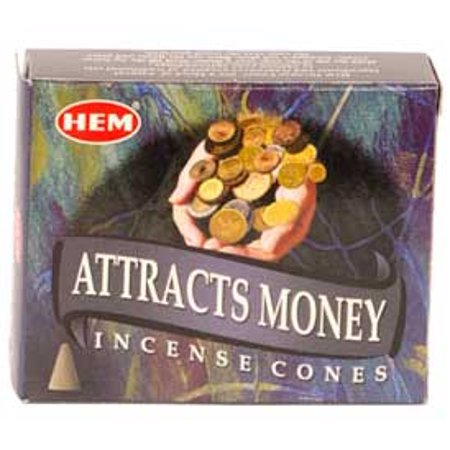 HEM Incense Attracts Money Cones 10pk Traditional Masala Spice Blend to Embrace the Powerful Vibrations of Good Fortune Bring Prosperity Your Way Prayer Meditation Aromatherapy