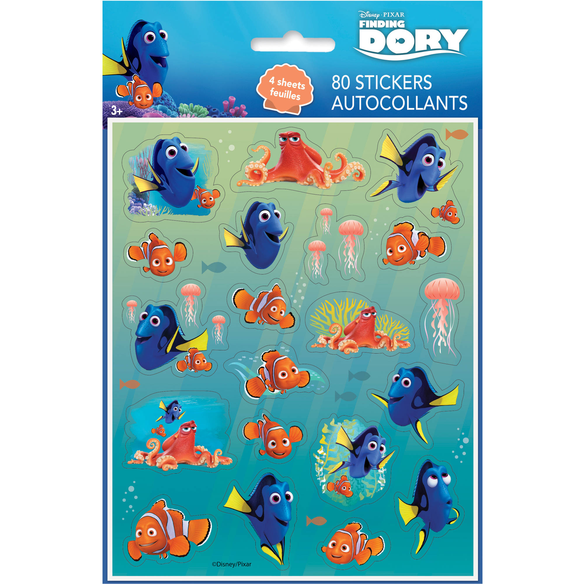 Finding Dory Sticker Sheets, 4ct