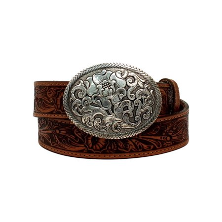 Nocona Western Belt Womens Oval Buckle Belle Forche Laced N3300008 (Womens Western Belt Buckle)