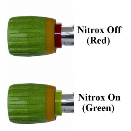 New Nitrox Vindicator On-Off Safety Valve Handle for Scuba Diving Tank Valve Handle - Model #6 Fits Blue Steel Valves, This Nitrox Vindicator Valve Handle #6.., By Innovative Scuba Concepts