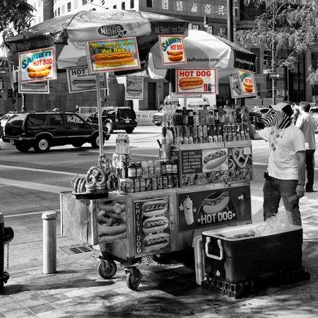 Safari CityPop Collection - NYC Hot Dog with Zebra Man II Print Wall Art By Philippe Hugonnard - Halloween Dog Show Nyc