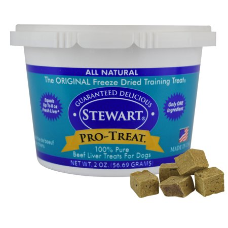 Stewart Freeze Dried Beef Liver by Pro-Treat, 2 oz. Tub