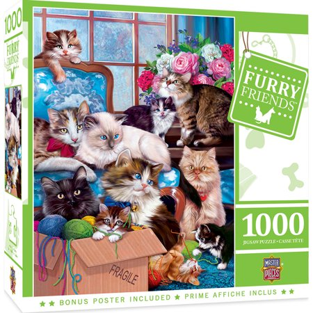 MasterPieces Furry Friends - Trouble Makers 1000 Piece Puzzle
