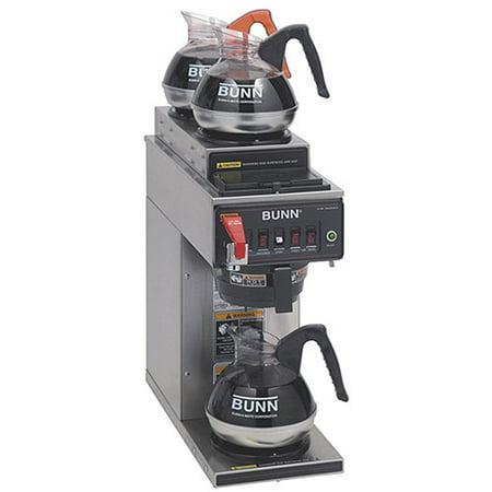 Bunn Automatic Coffee Brewer  12 Cup  2 Upper Warmers  1 Lower Warmer  Cwtf 15   3