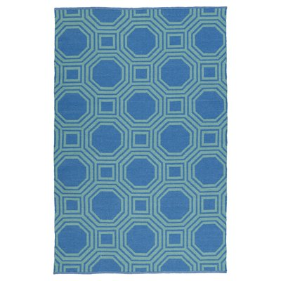 Kaleen BRI06-17B Brisa Collection Reversible Blue & Turquoise Outdoor Rug