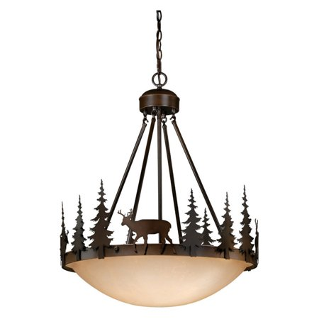 Large Pendant Lighting Fixture - Vaxcel Bryce Pendant - 24W in. Burnished Bronze