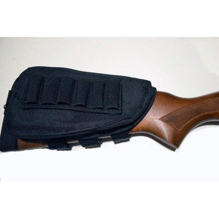 Shotgun Cartridge Holder / Cheek Rest / Buttstock Shell Pouch Molle - BLACK